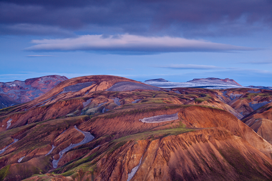Theo Bosboom - Landmannalaugar after sunset
